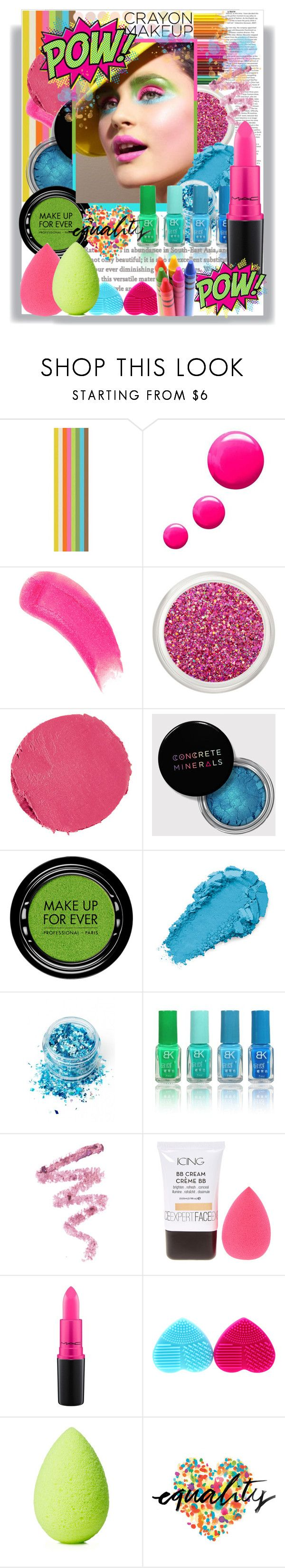 """CRAYON MAKEUP COLOR"" by licethfashion ❤ liked on Polyvore featuring beauty, Topshop, Sisley, Marc Jacobs, MAKE UP FOR EVER, In Your Dreams, Cynthia Rowley, MAC Cosmetics, beautyblender and Retrò"