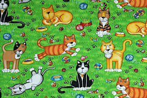 kediler çalışan renkli kediler, kedi melekler, cupid kediler, kalpleri ile kediler, mavi kedi kumaş