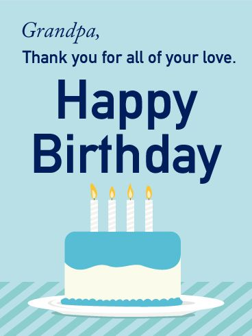 25 best birthday cards for grandfather images on pinterest thank you for all of your love happy birthday card for grandpa a celebratory bookmarktalkfo Gallery
