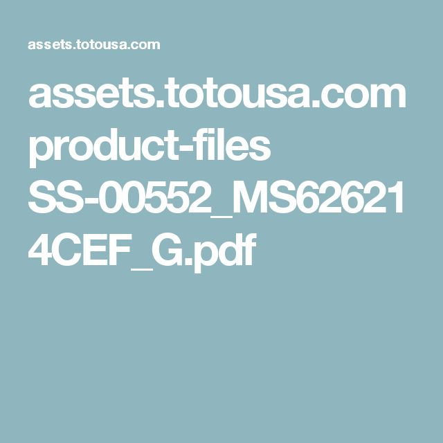assets.totousa.com product-files SS-00552_MS626214CEF_G.pdf