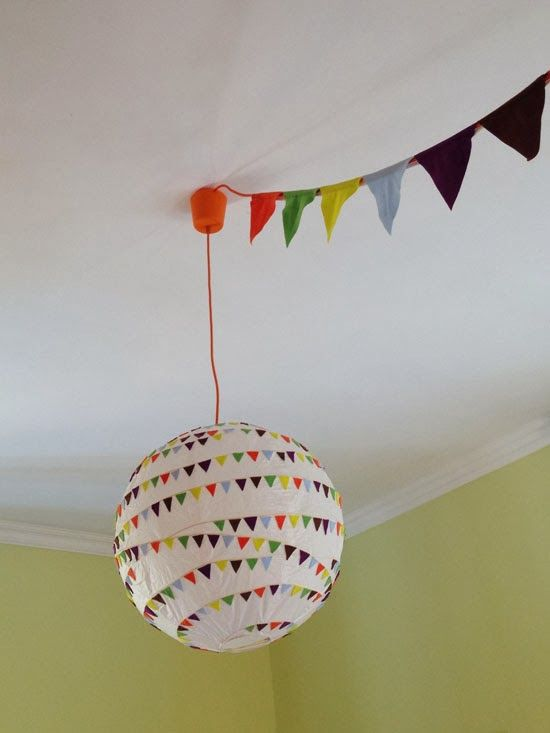 mommo design: IKEA HACKS - REGOLIT + FABRIC BUNTING