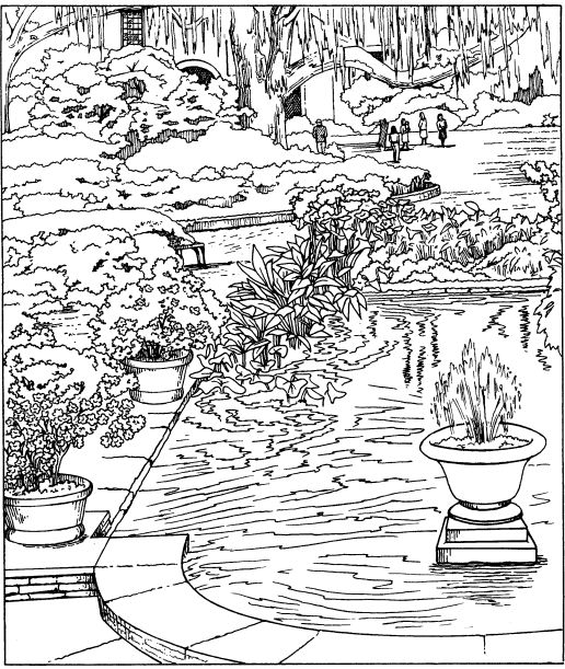 japanese garden coloring pages - photo #45