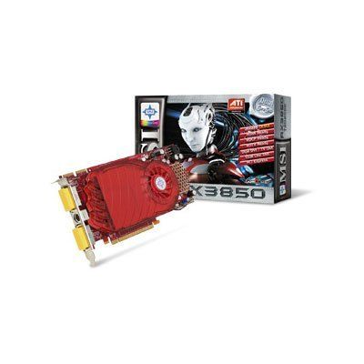 MSI RX3850-T2D256E OC HD 3850 256MB DDR3 256bit PCIE 2.1 Crossfire Supported Video Card by MSI. $62.49. Description:MSI RX3850-T2D256E OC Radeon 3850 256mb ddr3 PCI-E w/hdtv & 2 DVIFeatures: 666 million transistors on 55nm fabrication process PCI Express 2.0 X16 bus interface 256-bit GDDR3/GDDR4 memory interface Bus Memory Controller Microsoft® DirectX® 10.1 support Dynamic Geometry Acceleration OpenGL 2.0 support Unified Superscalar Shader Architecture Anti-aliasing features ...