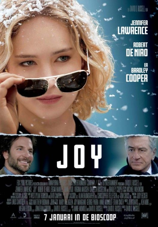 Joy - (2015) - Movie Poster Jennifer Lawrence - Robert De Niro - Bradley Cooper #movie #Films @English4Matura