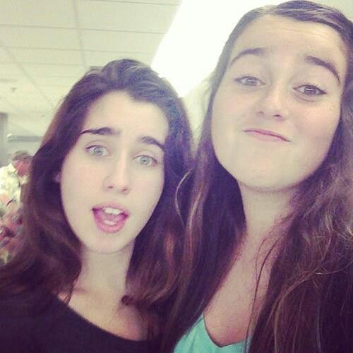 Photo of Lauren Jauregui & her Sister  Taylor Jauregui