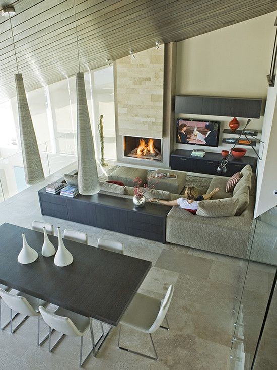 Contemporary Family Room Design, Pictures, Remodel, Decor and Ideas - page 4: Architects, Fireplaces Design, Living Rooms Design, Bays, The Angel, Arches, Family Rooms, Families Rooms Design, Contemporary Families Rooms