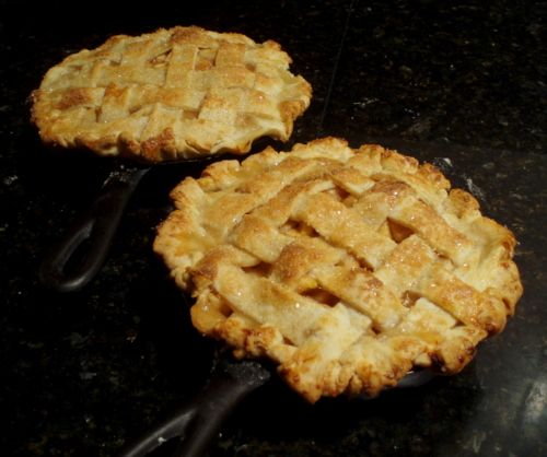 Cooking for My Peace of Mind: Apple Pear Pie in a Cast Iron Skillet (or two)