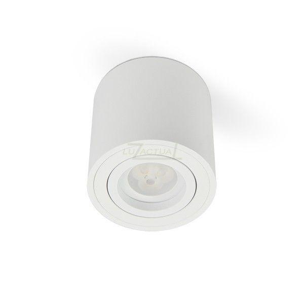 foco superficie aluminio blanco foco superficie luz gu foco superficie iluminacion interior blanco
