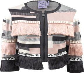 fringe jacket-herve leger avek fringe jacket