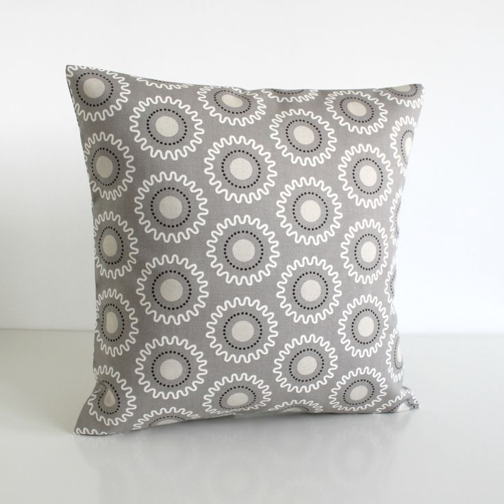 Geometric Cushion Cover, Accent Pillow, Throw Pillow Cover, Pillow Sham, Pillowcase, Toss Pillow Cover - Cogs Taupe Grey by CoupleHome on Etsy https://www.etsy.com/listing/230119651/geometric-cushion-cover-accent-pillow