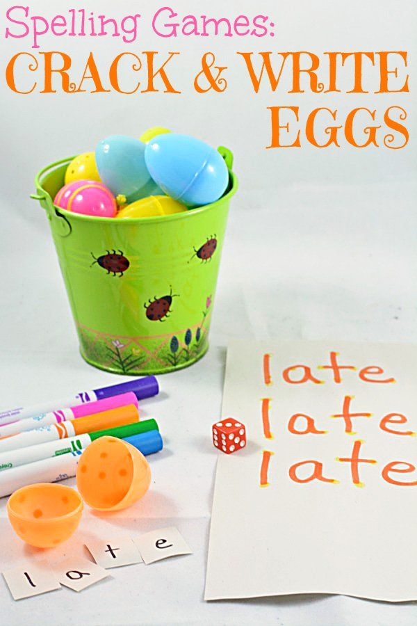 Spelling Games: A fun and festive, Easter-inspired idea for spelling revision. We created a spelling game that will provide lots of practice disguised as lots of enjoyment.  The game uses all those plastic Easter eggs that you already have in a bag somewhere in the house or that you have purchased just for the holiday.