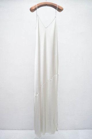 Style - Minimal + Classic: silk maxi slip dress by Nili Lotan