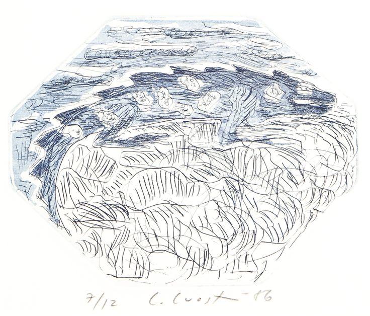 Leena Luostarinen, 1986, litografia, 16x19 cm, edition 7/12 - Hagelstam A133