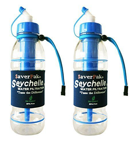 averPak 2 Pack  Includes 2 averPak Seychelle 20oz Sports Bottles with the STANDARD Filter Blue -- Click on the image for additional details.