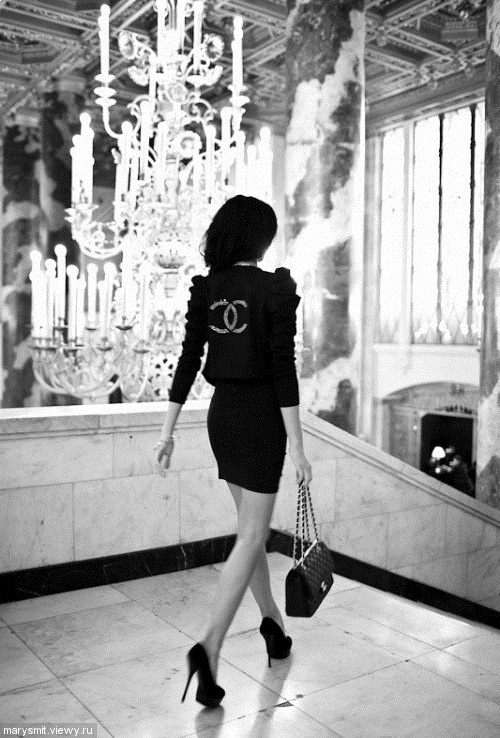 haha. This is how I see myself. You know, walking to work or just going out for the afternoon. In Chanel, and somewhere fabulous.