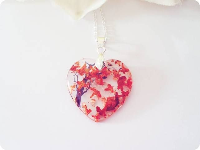 "Buttonsy ""Button Heart"" Necklace - Autumn Leaves £16.00 by Buttonsy"