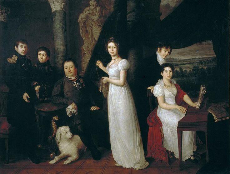 ТРОПИНИН ВАСИЛИЙ АНДРЕЕВИЧ (1776—1857) Семейный портрет графов Морковых