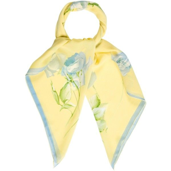 Pre-owned Carolina Herrera Floral Print Scarf ($75) ❤ liked on Polyvore featuring accessories, scarves, yellow, floral shawl, yellow shawl, carolina herrera, carolina herrera scarves and floral print scarves