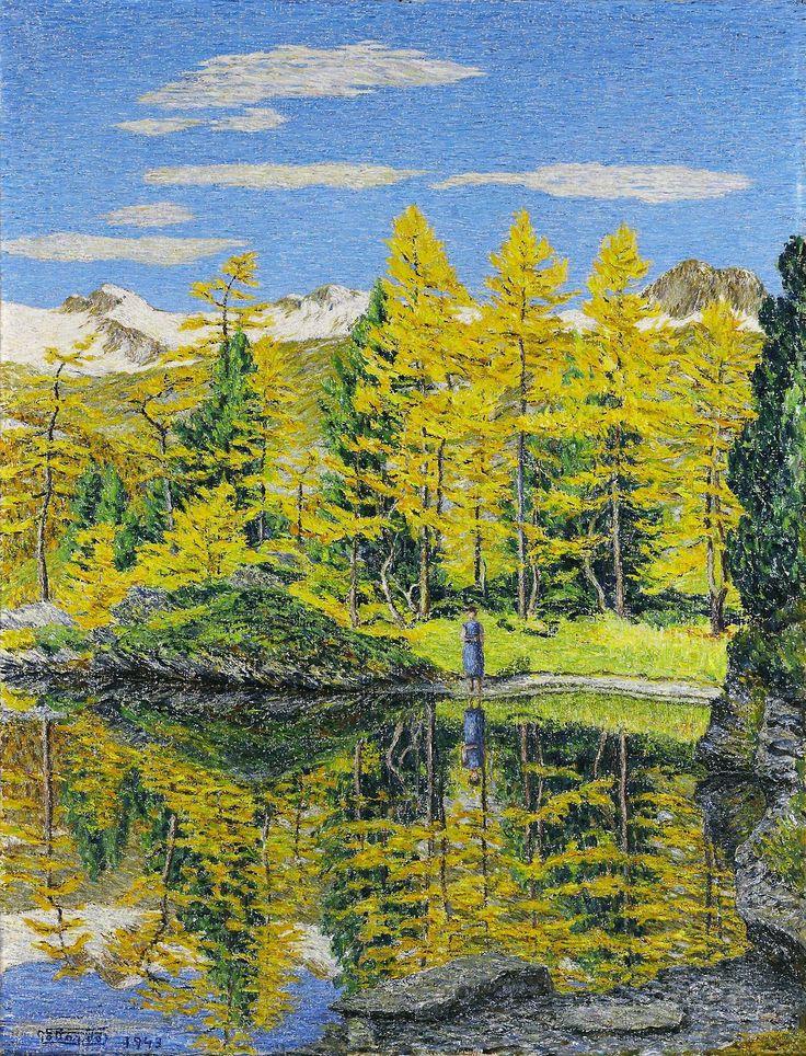 Gottardo Segantini (Swiss, 1882-1974), Autumn landscape, 1943. Oil on cardboard, 73 x 55cm.
