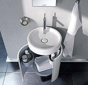 Siete ideas para un lavabo con pedestal para m s for Armario para lavabo con pedestal