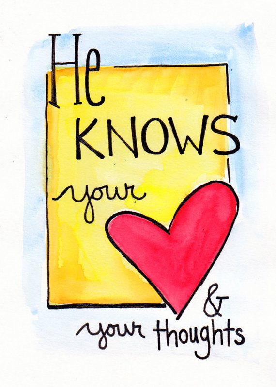 Christ knows your heart and your thoughts, homemade craft