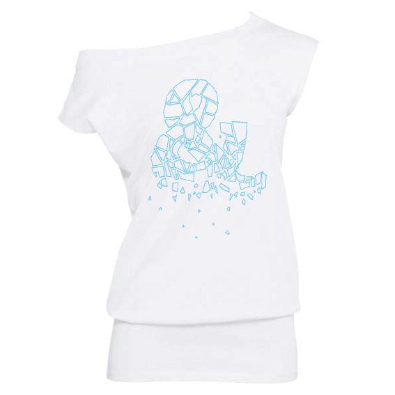 Dames   off-shoulder shirt Scattered ampersand (TWL05)