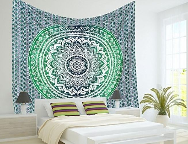 Indian Mandala Tapestry Hippie Hippy Wall Hanging Throw Bedspread Dorm Tapestry | Home & Garden, Home Décor, Tapestries | eBay!