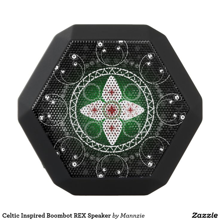Celtic Inspired Boombot REX Speaker. Música, music. Producto disponible en tienda Zazzle. Tecnología. Product available in Zazzle store. Technology. Regalos, Gifts. #bocinas #altavoces #speaker