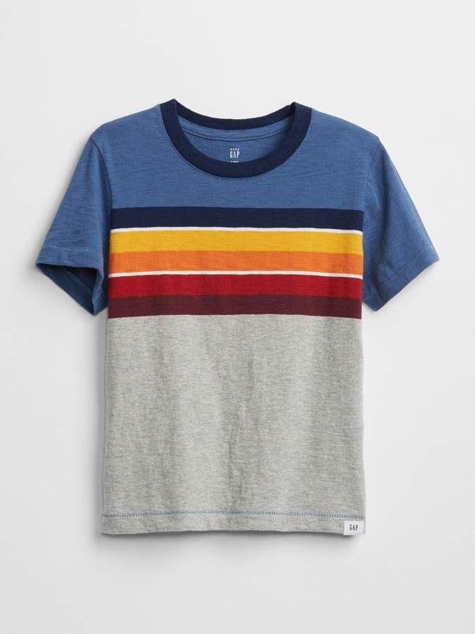0c39a45eb Chest-Stripe T-Shirt #crewneck#trim#chest | Fashion Style Chic in ...
