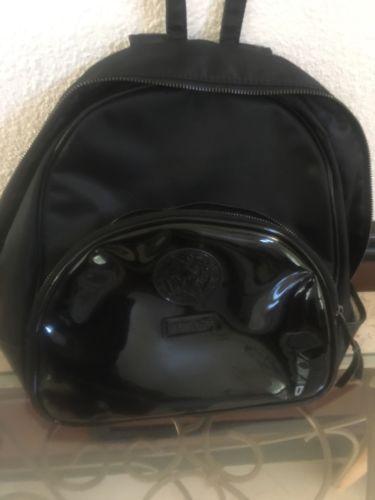 dc7ac015c9 WOMEN S VERSACE PERFUME PARFUMS BLACK BACKPACK Book Bag Medusa Logo ...