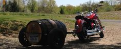 50 Gallon Whiskey Barrel Motorcycle Trailer Building Plans - Pull Behind Motorcycle Trailers