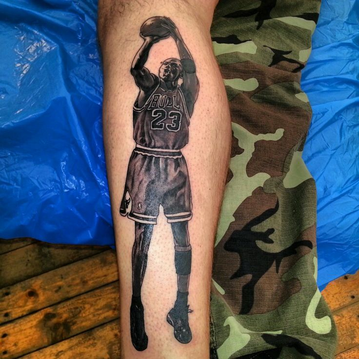 23 Inspiring Basketball Tattoo Images Pictures And Photos: My Jordan Tattoo, Michael Jordan's Last Shot As A Bull