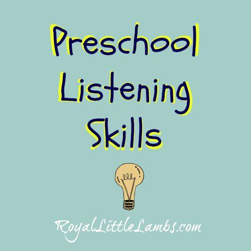 Preschool Listening Skills and Tips