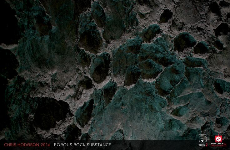 Porous Rock / Substance Designer, Chris Hodgson on ArtStation at https://www.artstation.com/artwork/Ybg9X