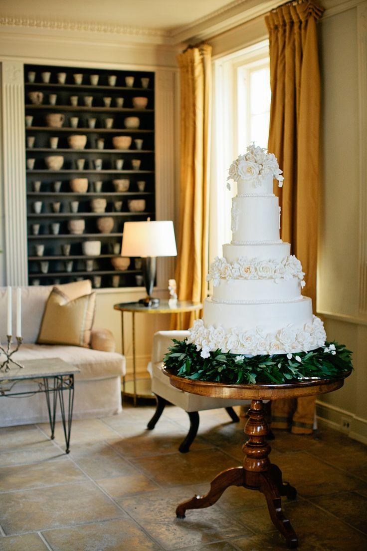 Elegant White Wedding Cake | photography by http://www.kristynhogan.com/