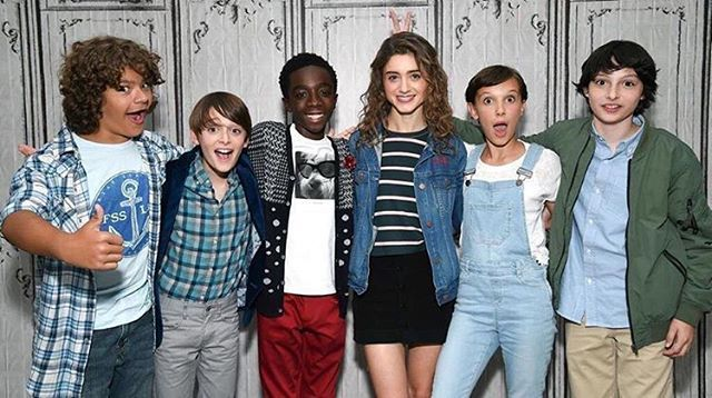 I can't get enough of the Stranger Things cast today. #StrangerThings