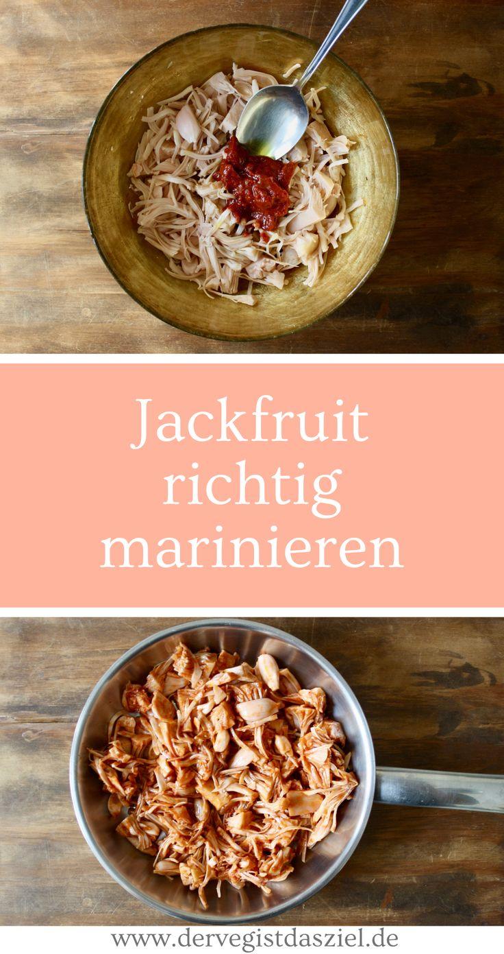 Jackfruit richtig marinieren, Grundrezept, vegan, glutenfrei, Fleischersatz, veganer Fleischersatz