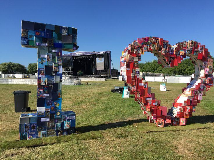 "NorthSide 2015, Aarhus, Denmark -  ""I ❤️... "" art installation made of old books"