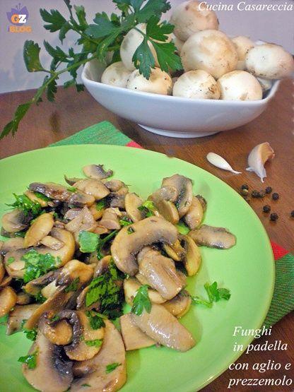 Funghi in padella con aglio e prezzemolo