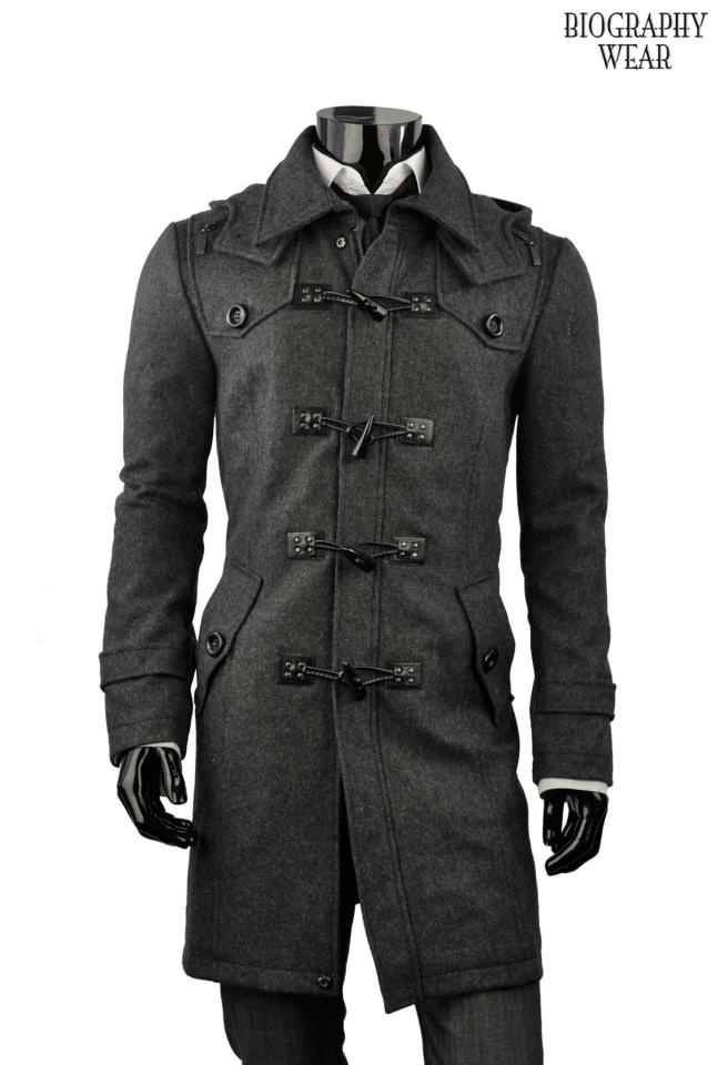 """Give-Away Contest Happening Now on our facebook fan page for our Fitted/Trench Coat w/ Detachable Snap-Button Hoodie. https://www.facebook.com/BiographyWear - stop by and """"like, comment, or share"""" to participate and view product details."""
