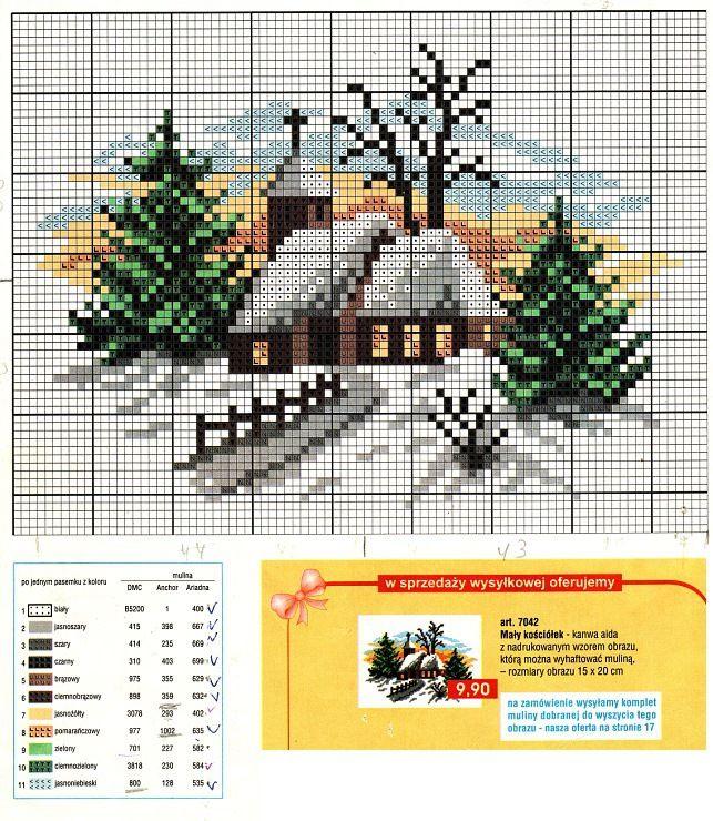 Схемы вышивки новогодних открыток