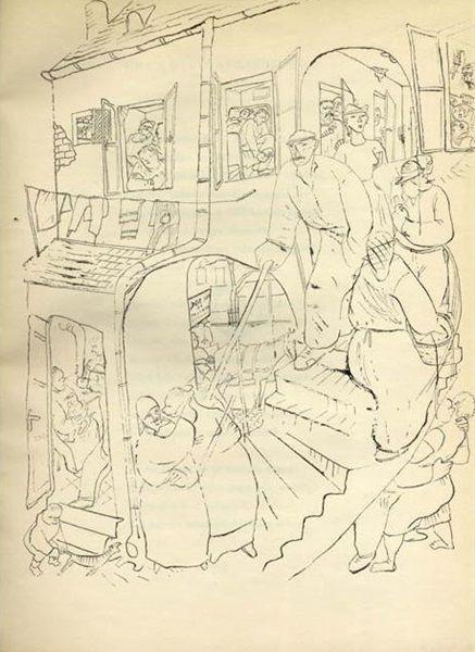 Szalay Lajos illusztrációja Szabó Lőrinc A szörnyeteg városa c. verséhez