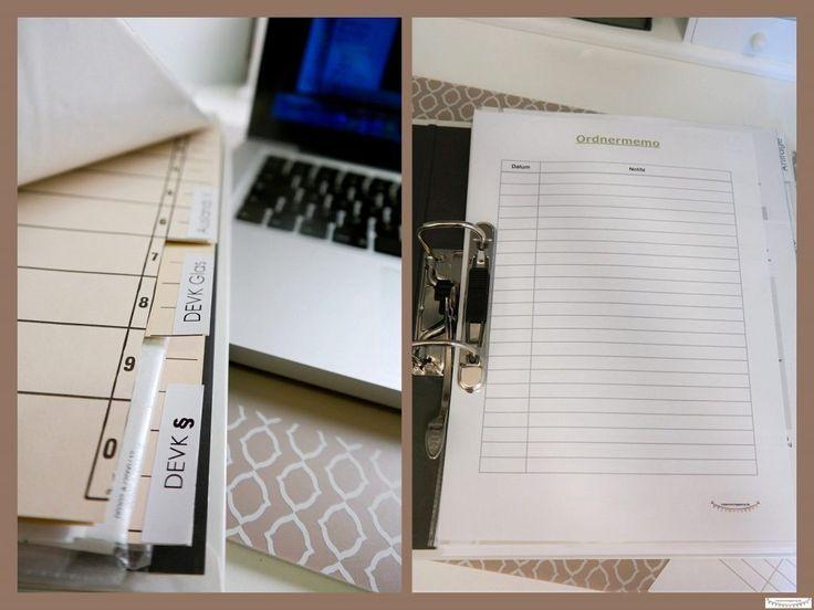Ordner sinnvoll anlegen und organisieren. Kostenfreie Druckvorlage für eine neue Ordnung im Büro und homeoffice *** by: www.missmommypenny.de *** organize and set up your folders, binders and files well. free Printable office organizing sheets