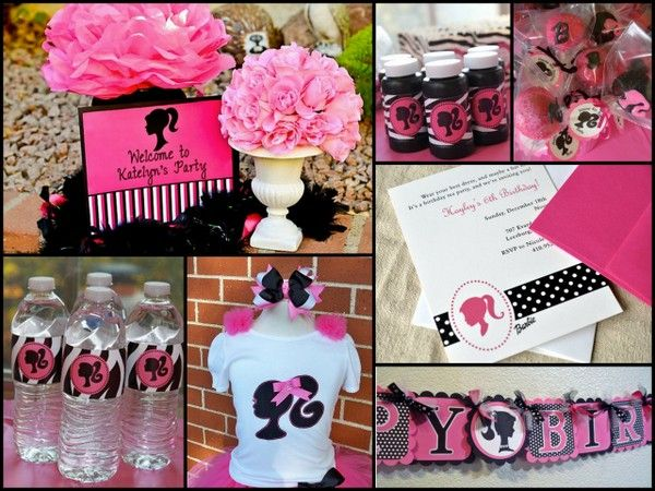 24 best Barbie Party Ideas images on Pinterest Birthday party