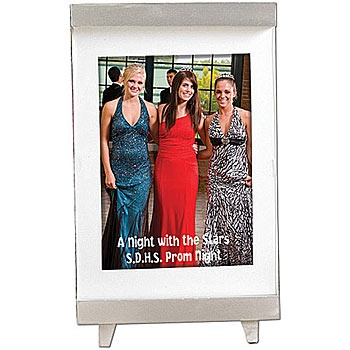Personalize this Elevated Elegance Photo Frame for your event. Put your favorite 5 inch x 7 inch Prom photo in this Elevated Elegance Custom Photo Frame.