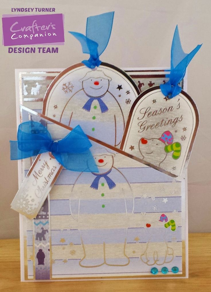 Crafters Companion Double Tag Pocket Card Snowman & Snowdog Papercraftting Kit