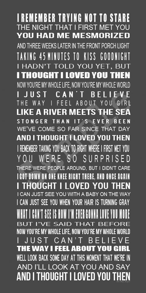 Our wedding song - thinking this may go in our home..      Love Song Lyrics  Custom Printable Poster  I by BonTempsBeignet, $25.00