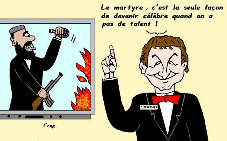 Le  martyre selon Desproges . .