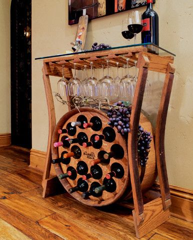 I would use it for a Cider Bar on bottom and Coffee/Tea Station above despite it being called The Barrel Rack wine rack.