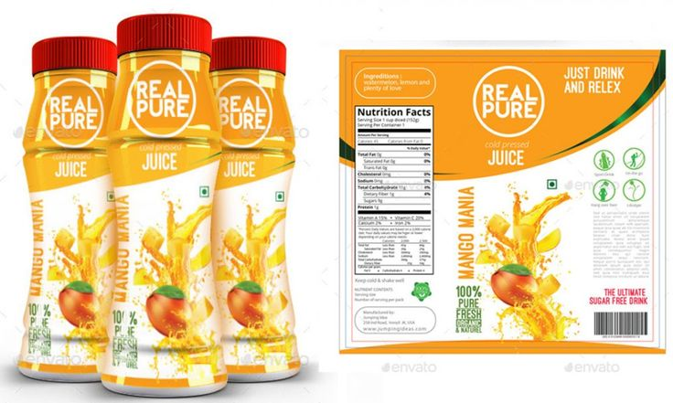 Juice Label Templates
